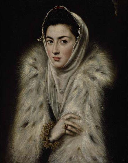 La dama de armiño (1570) - Atribución muy discutida, entre El Greco y Sofonisba Anguissola