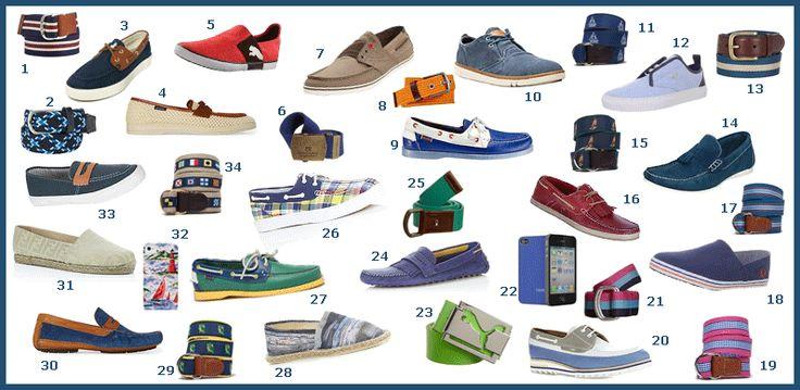 men's shoes john galliano BLUE AND WHITE pics | Fun Summer Shoes & Belts for Men