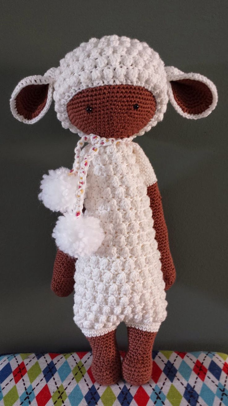LUPO the lamb made by Dorien / crochet pattern by lalylala