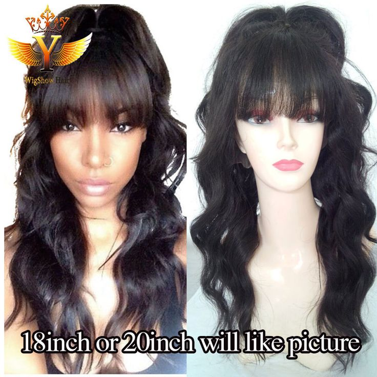 Find More Human Wigs Information about Full Lace Human Hair Wigs With Bangs Unprocessed Virgin Brazilian Full Lace/Lace Front Wig For Black Women African American Wig,High Quality wigs african american hair,China wig part Suppliers, Cheap wig long from Wigshow Hair Products Co.,Ltd on Aliexpress.com