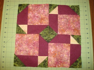 Great twist for the disappearing nine patch block.