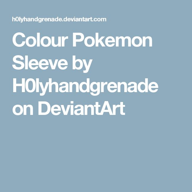 Colour Pokemon Sleeve by H0lyhandgrenade on DeviantArt