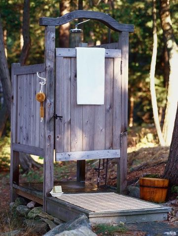 Rustic Outdoor Shower.