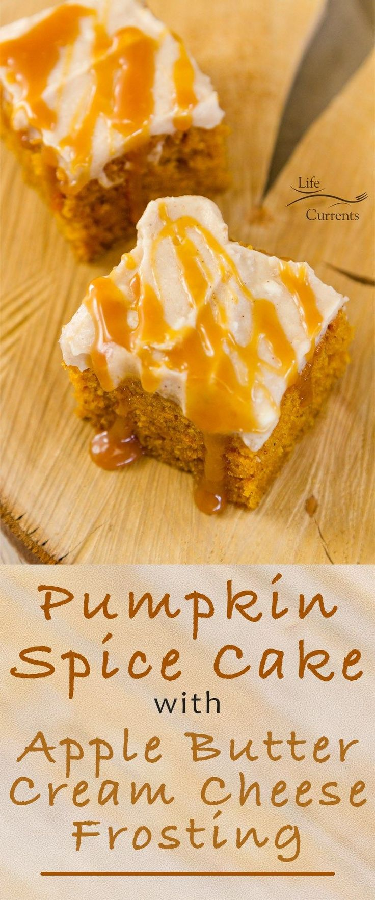 Pumpkin Spice Cake with Apple Butter Cream Cheese Frosting, it's a perfect fall dessert. All the things that make fall, well, fall are here!