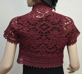 Crochet N Beads Design I got to show off at the CGOA Design contest. Filet's Night Out Shrug.