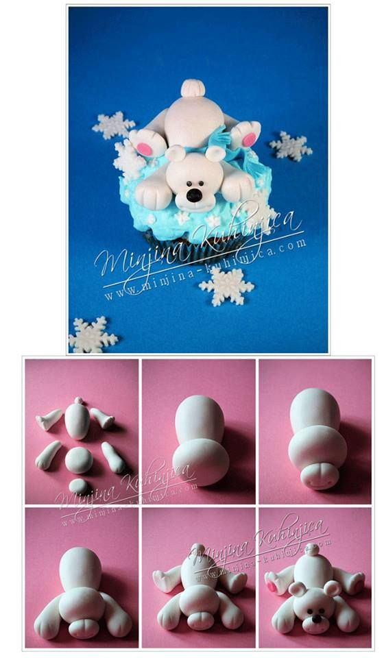 Cute winter bear - For all your cake decorating supplies, please visit craftcompany.co.uk