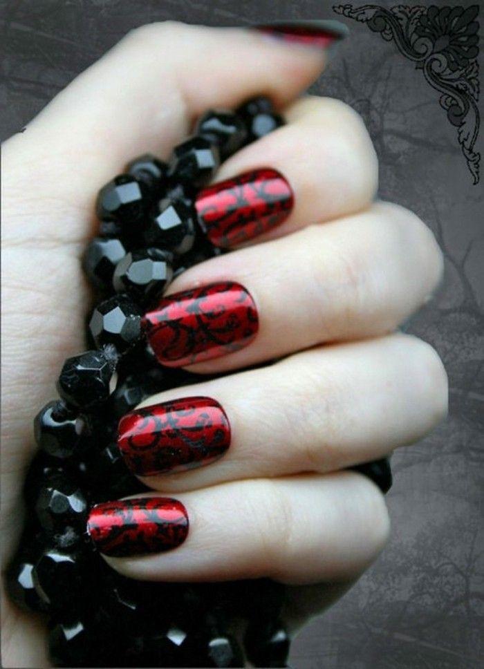 17 meilleures id es propos de ongles rouges sur pinterest art ongle rouge designs ongles - Pied vernis rouge ...