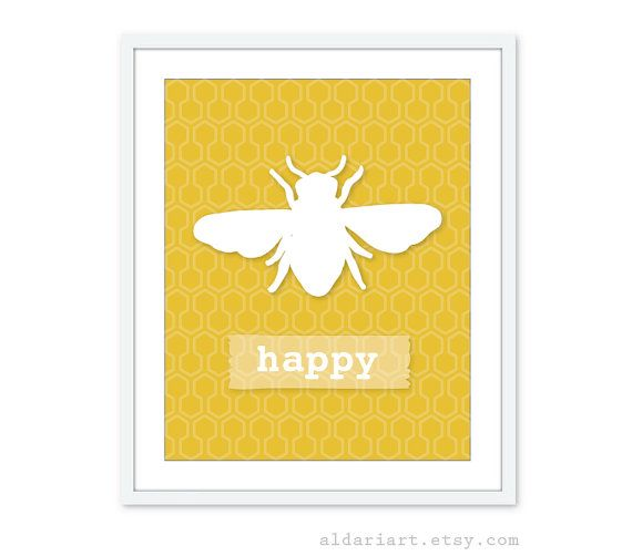 Bee Happy Digital Print