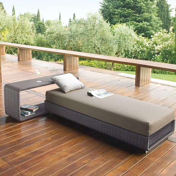 Schön Rattan Lounge Bett Bistelltisch Terrasse Garten Roberti