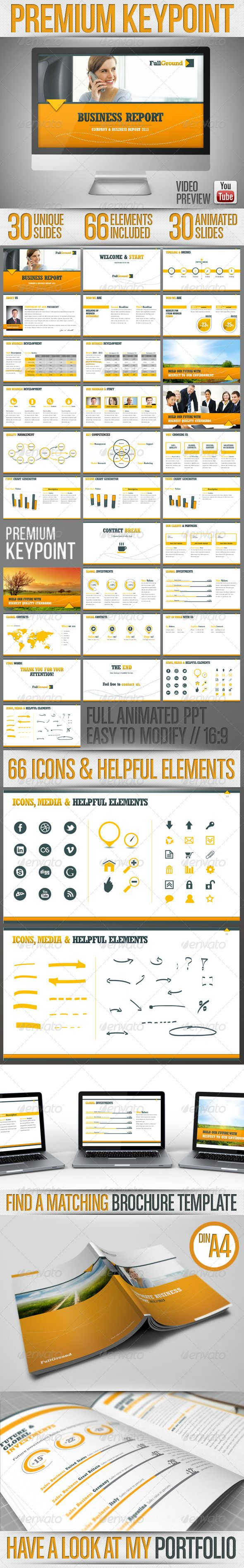 Fullground - Keypoint Presentation Template  - GraphicRiver Item for Sale