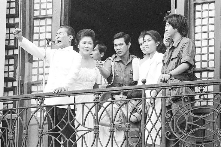 Ferdinand Marcos's last appearance as President of the Philippines before fleeing to Hawaii, 1986