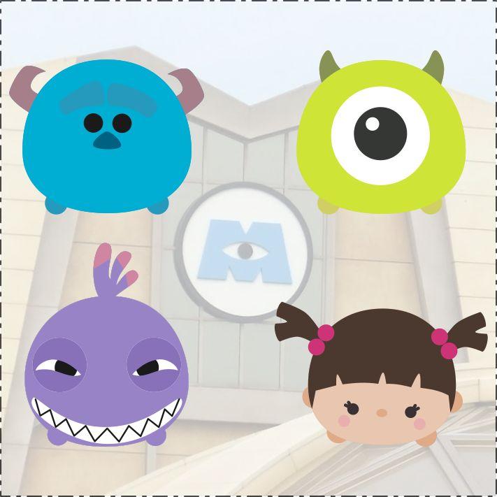 Krafty Nook: Tsum Tsum - Monsters Inc. Fan Art