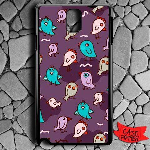 Pattern Little Chicken Samsung Galaxy Note 3 Black Case