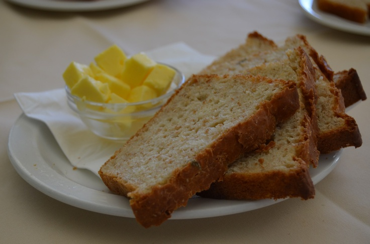 Delicious, warm home-made bread at Fordoun, along the Midlands Meander. http://www.n3gateway.com/things-to-do/food-wine-beer.htm