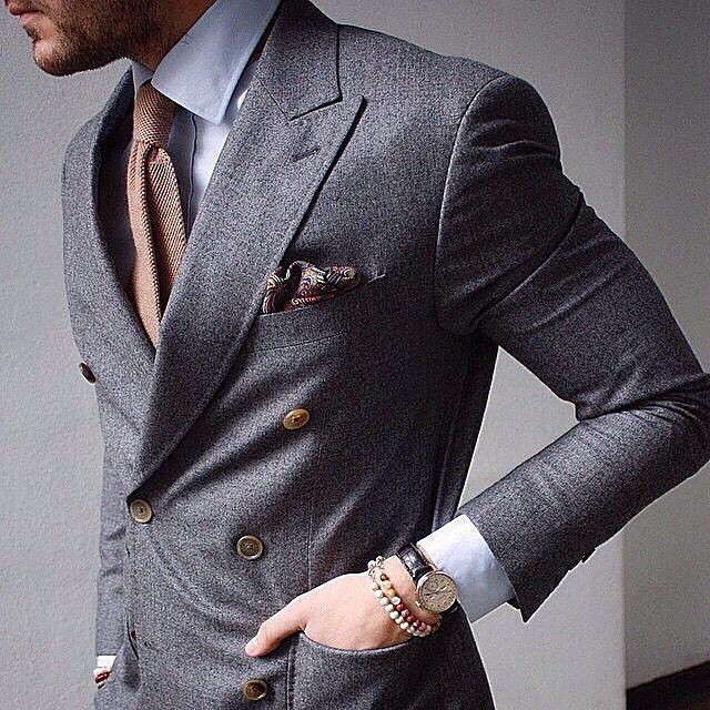 When is it best to wear this look? The bracelets add a bit of modern touch, do you like it? #gentslounge #menwithstyle #styleicon #outfitinspiration #dressedtoimpress #bestoftheday #style #look