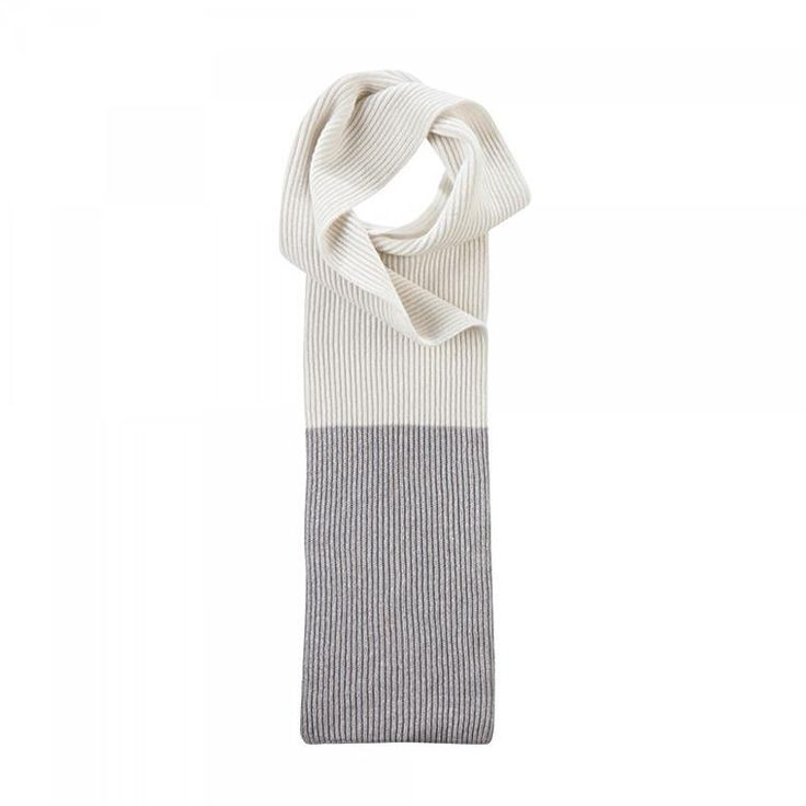 Cashmere Scarf Spectrum in Grey and White