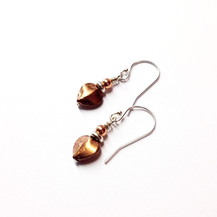 Dainty Copper Earrings Are A Great Gift Idea For 7th Or 22nd Wedding Anniversary