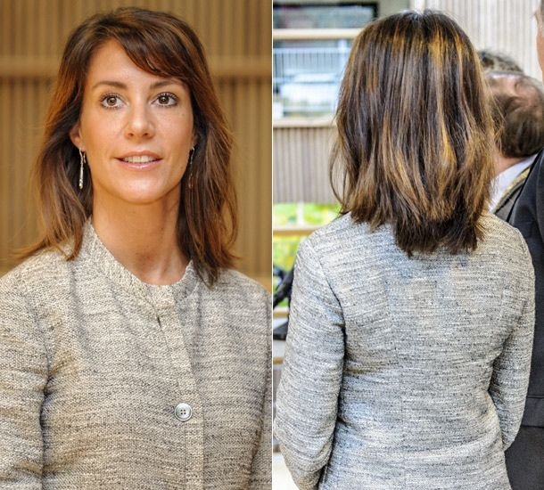 Princess Marie of Denmark showed off a stunning new look ~ The elegant mother-of-two, who is married to Prince Joachim of Denmark, looked radiant with her new hairstyle of shorter locks and light brown highlights.