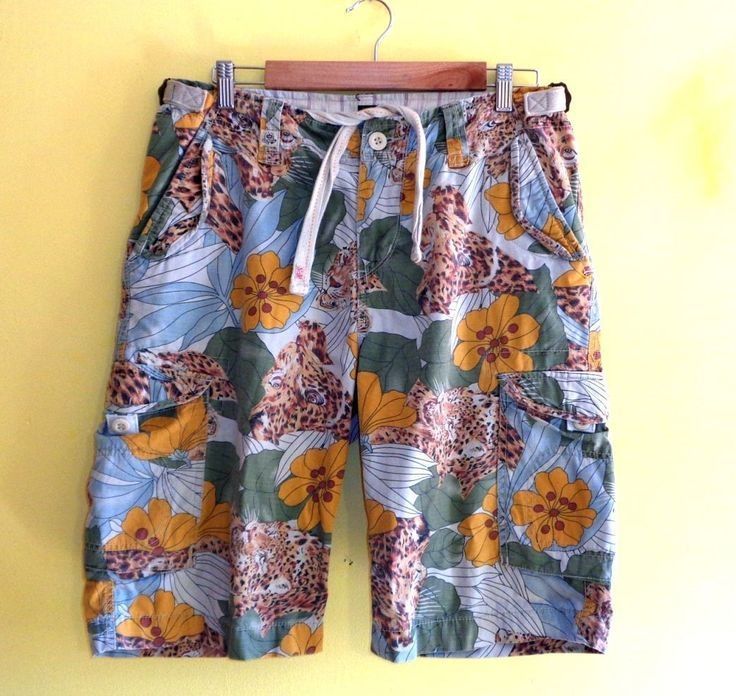 scotch and soda board bermudashorts safari tiger jungle print cotton lazyoaf new | eBay
