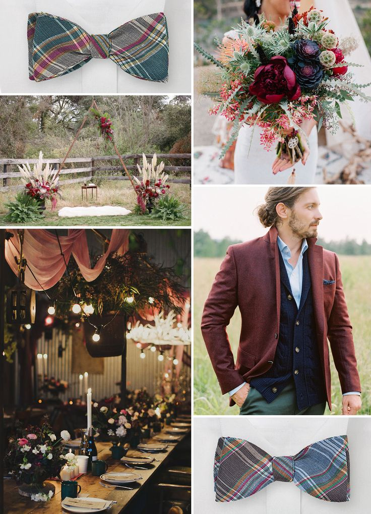 Wedding plaid mood board for your rustic weddings.