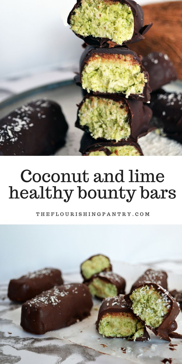 I feel like the whole world has been making their own Bounty bars lately, and I needed to get in on the action. The result is a super tasty bar which I am so excited to have a stack of in the freezer now. I went for 3 limes for serious zing, but I'd recommend taste testing as you go to get the flavour just right for you. This recipe is refined sugar free, gluten free, vegetarian and vegan friendly.
