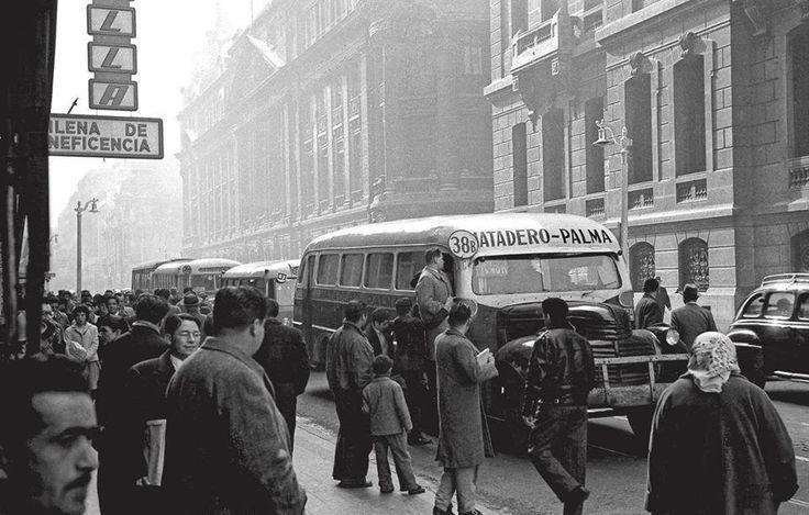 Matadero-Palma en Calle Bandera desde la Alameda (1960)