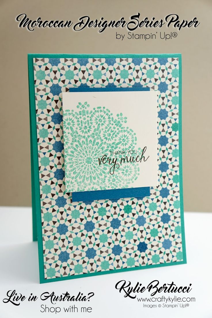 best cards morrocan images on pinterest diy cards stampin up