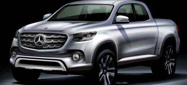 Mercedes-Benz Pickup: Der Truck kommt auch mit AMG-Zubehör ins Rollen : Sportlicher Lifestyle und Arbeitstier – der neue Mercedes-Benz Truck wird beides drauf haben.