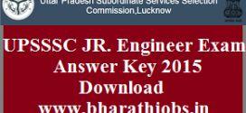 UPSSSC JR. Engineer Exam Answer Key 2015 Download