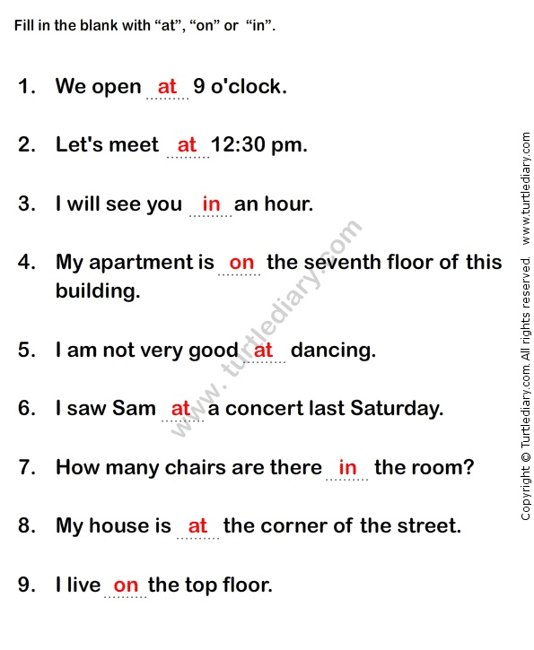 17 best ideas about Prepositions Worksheets on Pinterest ...