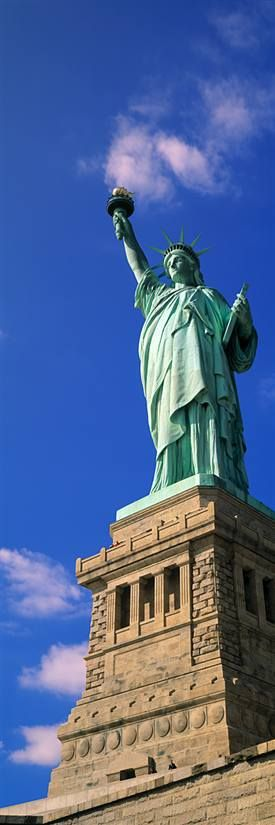 """Give me your tired, your poor, your huddled masses, yearning to breathe free, the wretched refuse of your teeming shore.  Send these, the homeless, tempest tossed, to me.  I lift my lamp beside the golden door."""