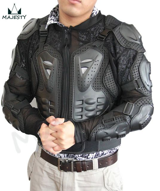 Motorcycle Full Body Armor Jacket Spine Chest Protection Gear  S M L XL XXL XXXLblack