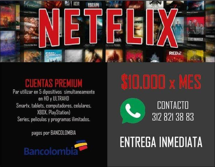 📛N E T F L I X📛     ..NO Te la Pierdas👀.. Plan PREMIUM📹👌 5 Pantallas, Ultra HD, 4K 💲15.000 X Mes 🚫Sin Tarjeta de Crédito💳 Sin cláusula de Permanecia y pagas el mes que quieras.