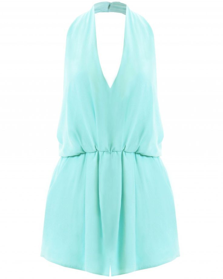 LOVE Aqua Halterneck Playsuit - In Love With Fashion