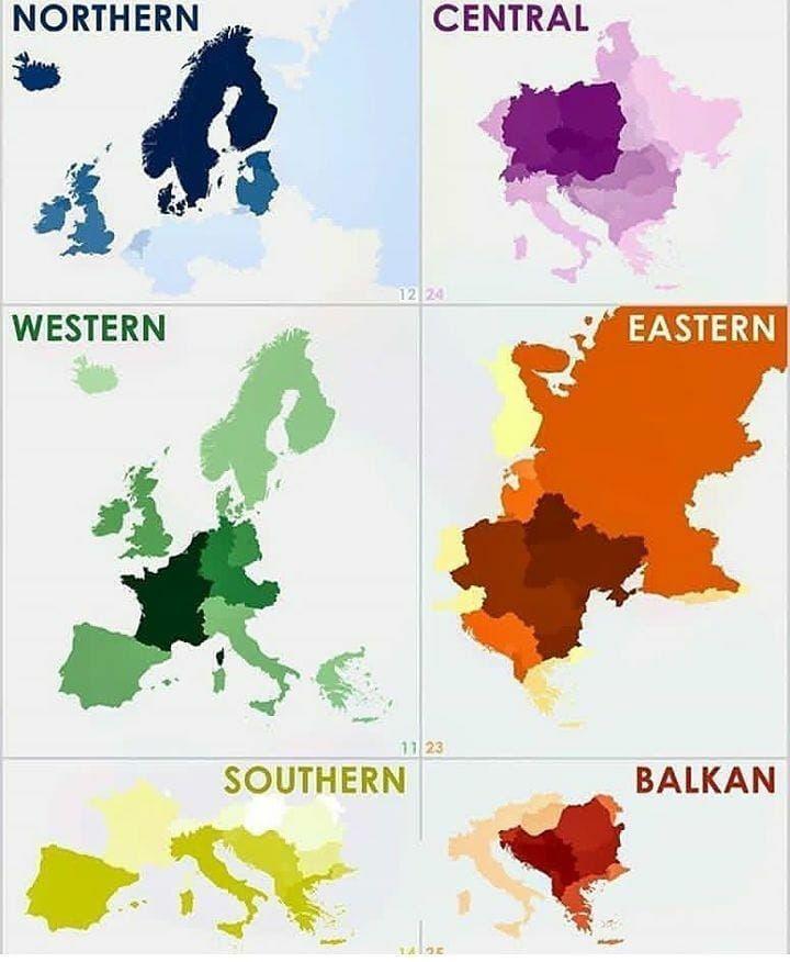 The 6 Europes! #maps #europe #north #south #east #west #russia #germany #uk #france #italy #spain #norway #balkan #portugal #greece #austria #denmark #poland #switzerland #eu #finland #sebia #ukraine #ireland #slovenia #finland #statistics #map #belgium #geography  via ✨ @padgram ✨(http://dl.padgram.com)