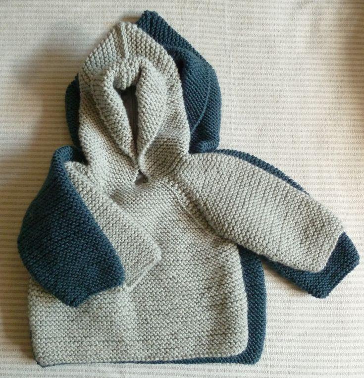 Kit modèle Marcel: brassière à capuche ouverte dans le dos - Kit à tricoter - Cachemire etc