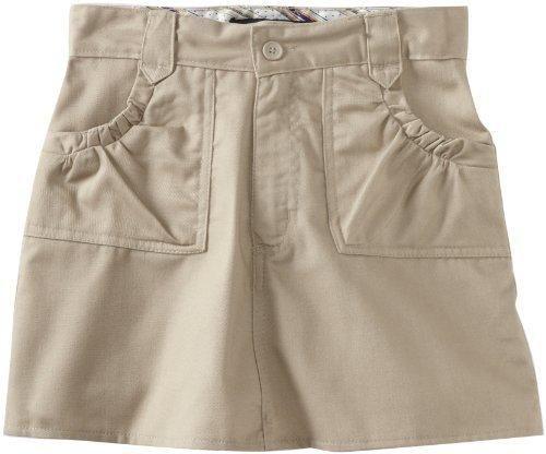 U.S. Polo Association School Uniform Big Girls'  Ditsy Waistband Twill Scooter Skirt Khaki 10