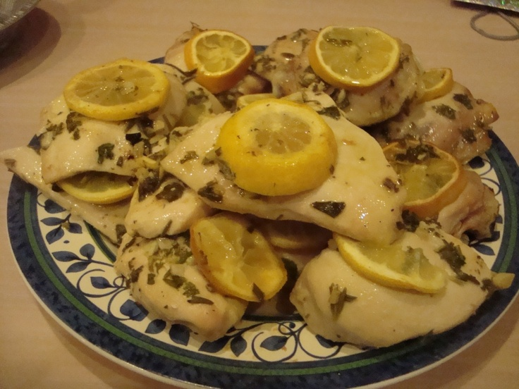 Lemon Herb Chicken. This is a great, easy and delicious recipe! I make it all the time especially when I have people over for dinner!