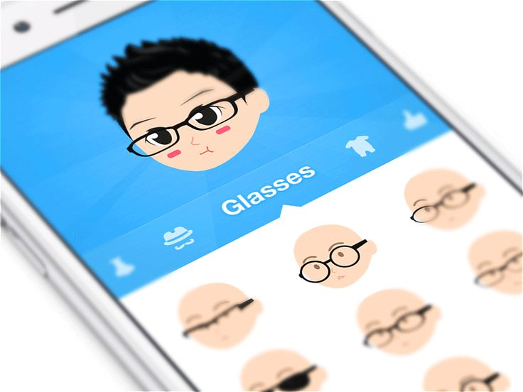 Interface design of a comic app. It allows you to design your avatar and share comic messages with your friends.  Work Inquiries → Ramotion.com  GitHub | Behance | Twitter | Facebook