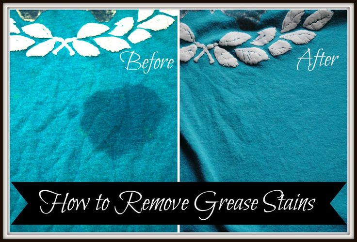 How to get grease stains out of clothes. It works! Brand new shirt and I managed to get multiple grease splatters on it while cooking. Did both the dish soap and baking soda steps and the stains came right out :)