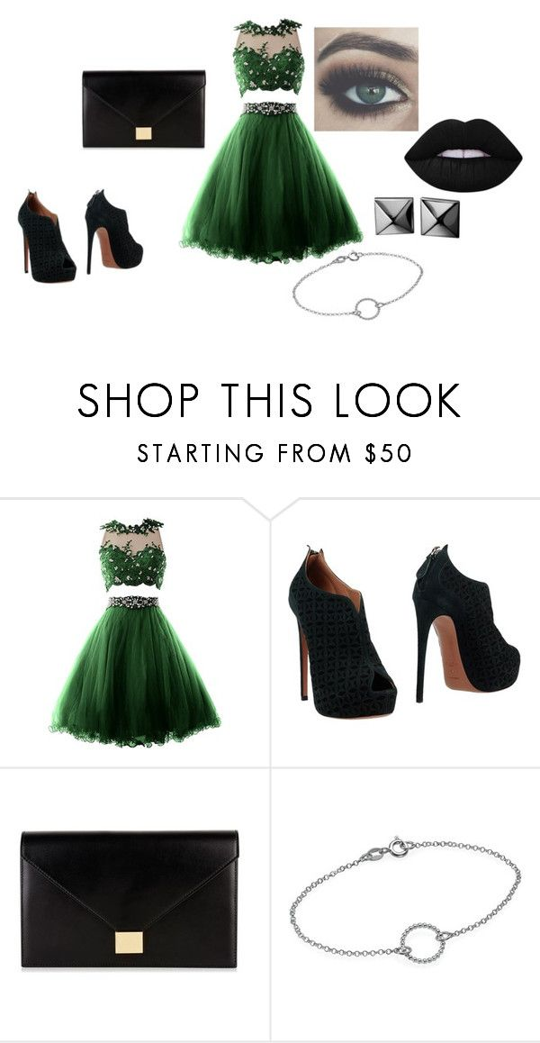 """""""filling a little bit green"""" by shannon-tilley on Polyvore featuring Alaïa, Victoria Beckham and Waterford"""