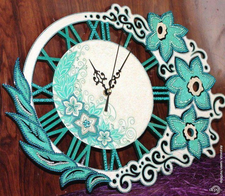 """Декупаж - Сайт любителей декупажа - DCPG.RU   Часы """"Изумрудная фантазия"""" Click on photo to see more! Нажмите на фото чтобы увидеть больше! decoupage art craft handmade home decor DIY do it yourself clock"""