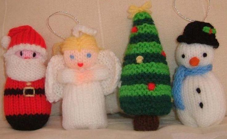 Free Christmas Knitting Patterns – Santa, Angel, Snowman and Tree