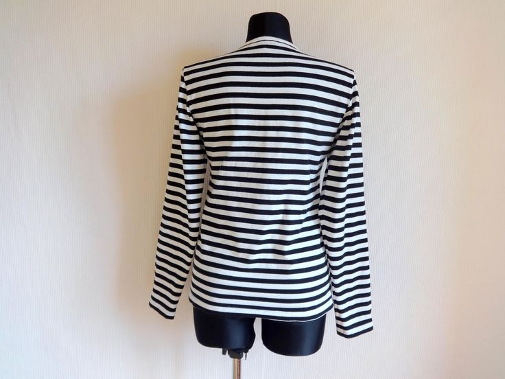 MARIMEKKO Striped Black & White Shirt Cotton Jersey Horizontal Stripes Nautical Top Women's  Clothing Finnish Clothing Marimekko Top by Vintageby2sisters on Etsy