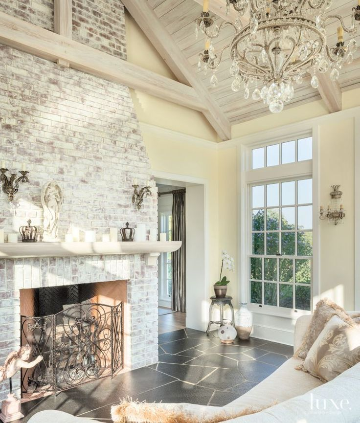 Like The Brick Beams Dark Floors Decor Chandelier Is: 21 Best Brick Fireplaces And Fire Pits Images On Pinterest