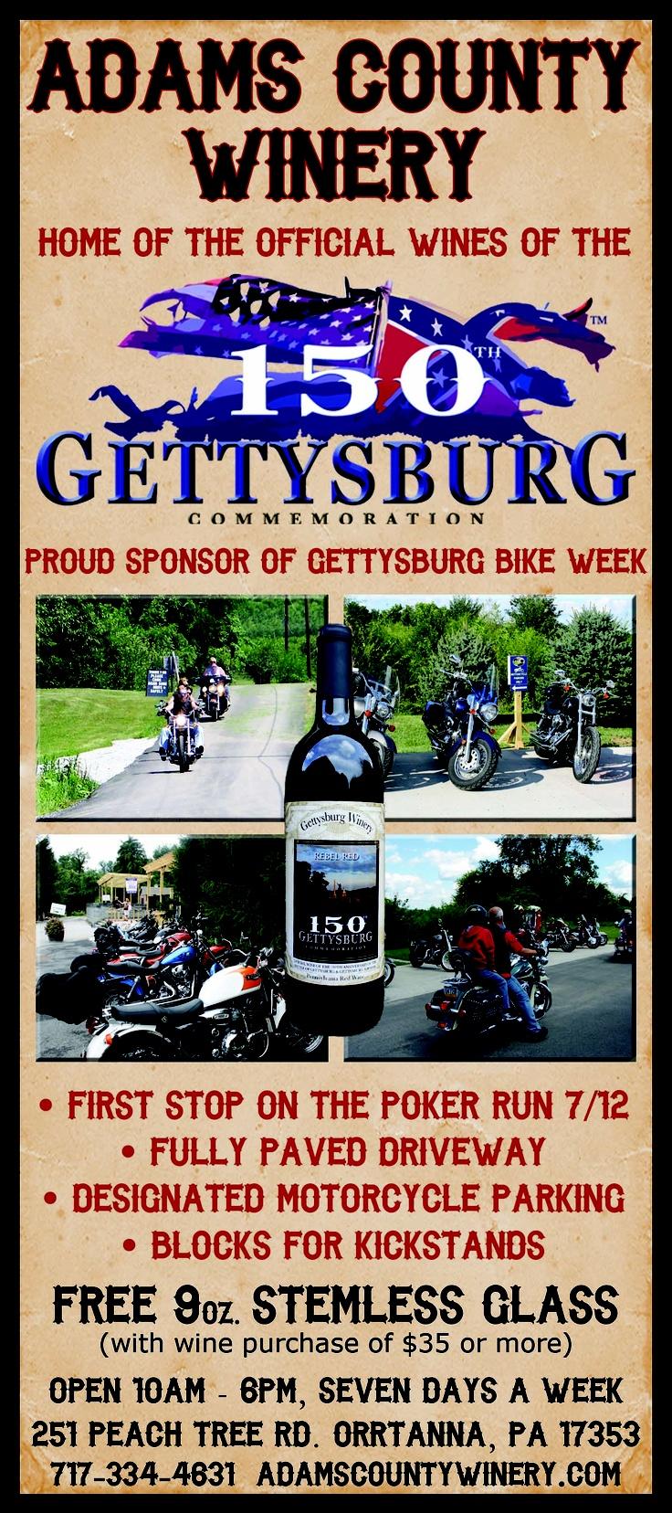 Gettysburg Bike Week ad