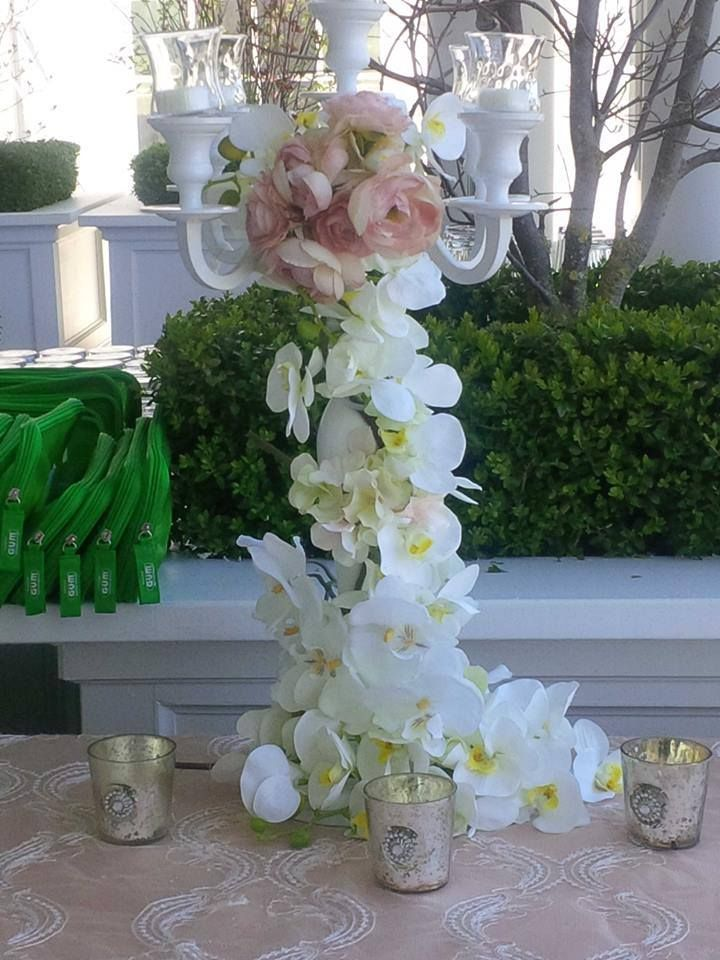 Floral Candleabra designed by our decor director, Miha Males...