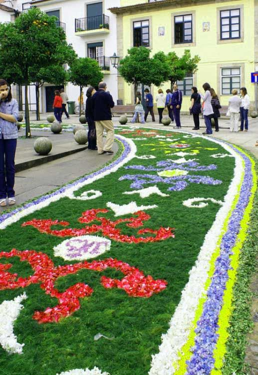 Flower carpet to clebrate Easter, Vila do Conde, Portugal.