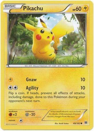 Pikachu 48/162 Pokemon TCG: XY BREAKthrough Pokemon Card #pokemon #pokemontcg #pokemoncards
