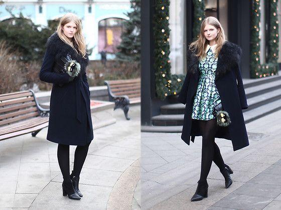 Sheinside Dress, Reiss Boots